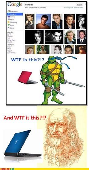 Leonardo is not pleased