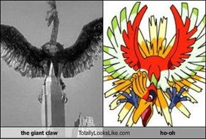 the giant claw Totally Looks Like ho-oh