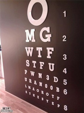 Eye Test Mural WIN
