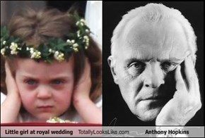 Little girl at royal wedding Totally Looks Like Anthony Hopkins