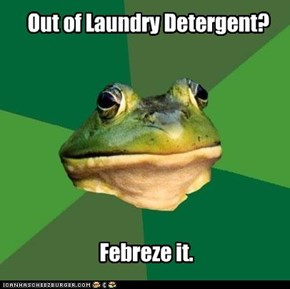 Foul Bachelor Frog: it's laundry day