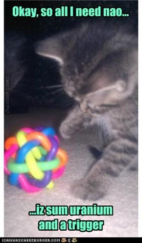 Dr Tinycat - nuclear physicist extraordinaire