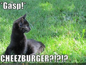 *Gasp!*  CHEEZBURGER?!?!?