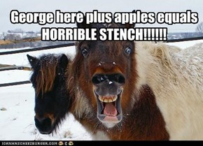 George here plus apples equals HORRIBLE STENCH!!!!!!