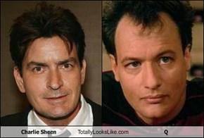 Charlie Sheen Totally Looks Like Q