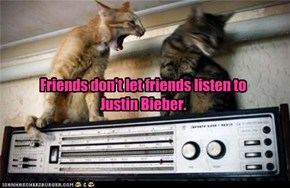 Friends don't let friends listen to Justin Bieber.