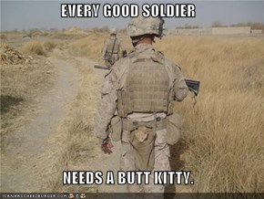 EVERY GOOD SOLDIER  NEEDS A BUTT KITTY.