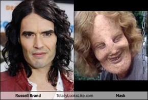 Russell Brand Totally Looks Like Mask