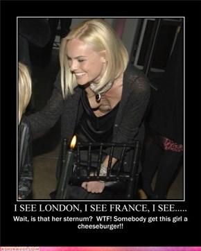 I SEE LONDON, I SEE FRANCE, I SEE....