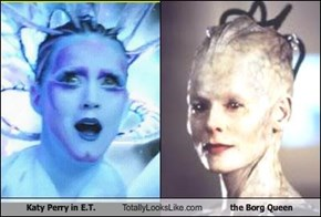"Katy Perry in ""E.T."" Totally Looks Like The Borg Queen"