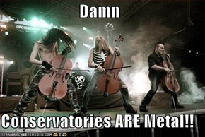 Damn  Conservatories ARE Metal!!