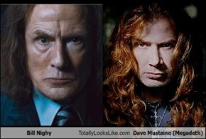 Bill Nighy Totally Looks Like Dave Mustaine (Megadeth)