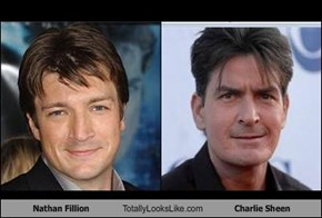 Nathan Fillion Totally Looks Like Charlie Sheen