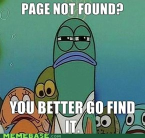Page Not Found?