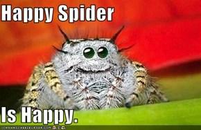 Happy Spider  Is Happy.