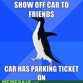 Socialy awkward penguin: Car