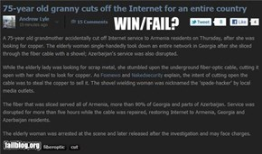 Completely relevant news: Granny WIN/FAIL?