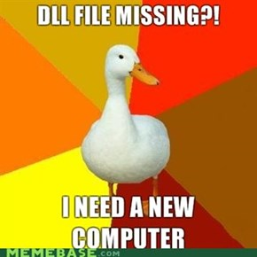 Technology impaired duck: DLL file