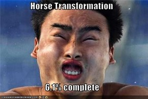Horse Transformation  6.1% complete