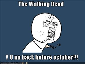 The Walking Dead    Y U no back before october?!
