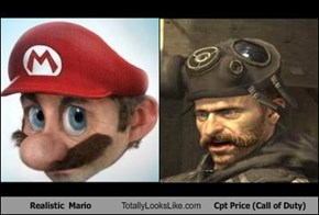 Realistic  Mario Totally Looks Like Cpt Price (Call of Duty)