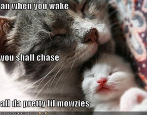 an when you wake you shall chase all da pretty lil mowzies