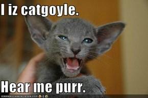 I iz catgoyle.   Hear me purr.