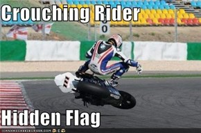 Crouching Rider  Hidden Flag