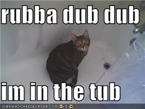 rubba dub dub  im in the tub