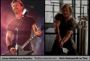 James Hetfield from Metallica Totally Looks Like Chris Hemsworth as Thor