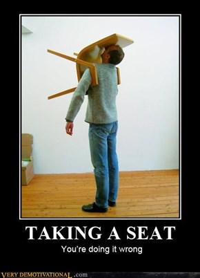 TAKING A SEAT