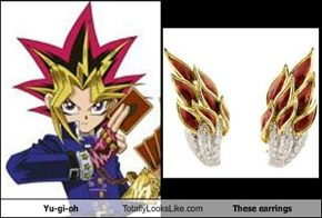 Yu-gi-oh Totally Looks Like These earrings