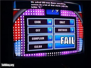Name something women do that starts with F