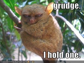 grudge.  I hold one.