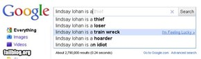 Google prediction fail!! Lindsay Lohan