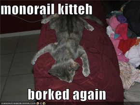 monorail kitteh  borked again