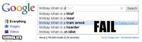 Google prediction fail!! Lindsay Lohan