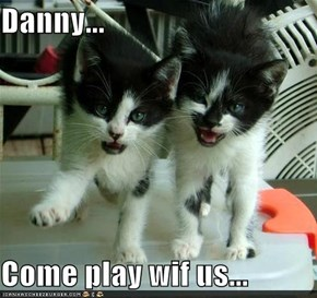 Danny...  Come play wif us...