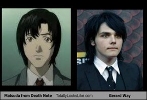 Matsuda from Death Note Totally Looks Like Gerard Way