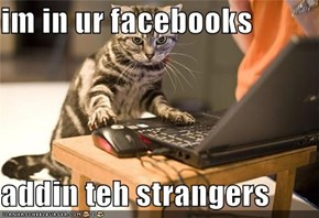 im in ur facebooks  addin teh strangers