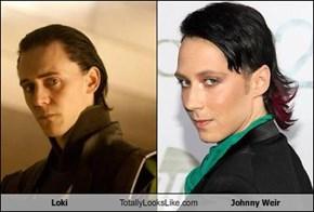 Loki Totally Looks Like Johnny Weir