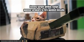 Enemy target within range gunner prepare to fire guided missile