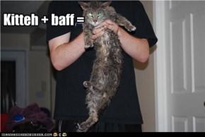 Kitteh + baff =
