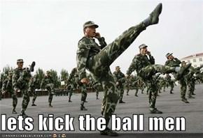 lets kick the ball men