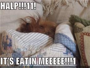 HALP!!!11!  IT'S EATIN MEEEEE!!!1