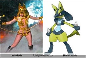 Lady GaGa Totally Looks Like Shiny Lucario