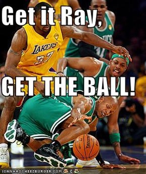 Get it Ray, GET THE BALL!