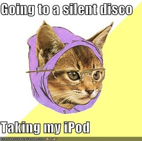 Going to a silent disco  Taking my iPod