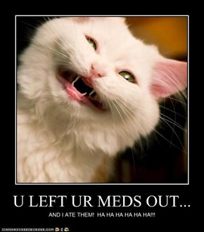 U LEFT UR MEDS OUT...