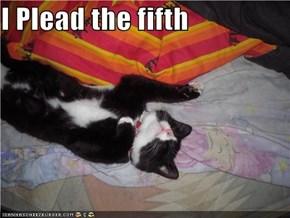 I Plead the fifth